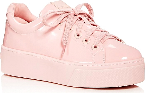 Kenzo Patent Leather Lace Up Platform Sneakers | SNEAKERS | Kenzo | Faded Pink