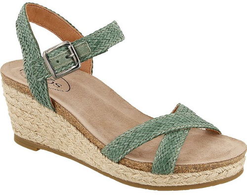 0f4702dcc3c Taos Hey Jute Espadrille Wedge Sandal in Green Green Wedge Sandals for  Women UPC 888362241107
