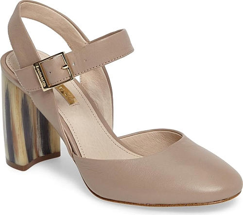 1d4ab289433 Women s Louise Et Cie Juveau Crescent Heel Pump in Light Beige Leather