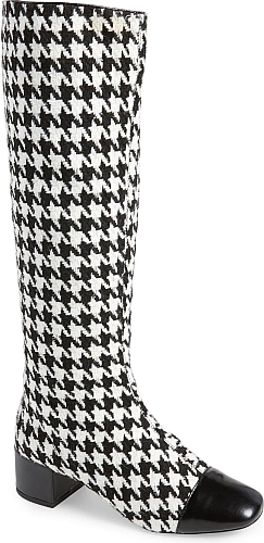 Jeffrey Campbell Black White Houndstooth