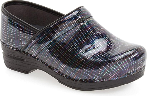 Dansko Teal Multi Patent Leather