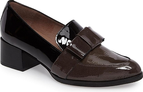 Wonders Brown And Black Patent Leather