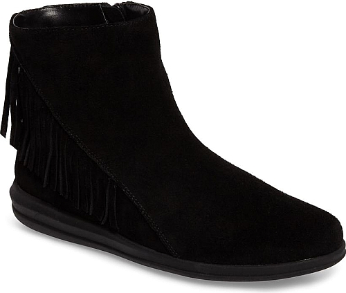 David Tate Black Suede