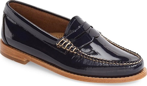 G.H. Bass & Co. Navy Leather