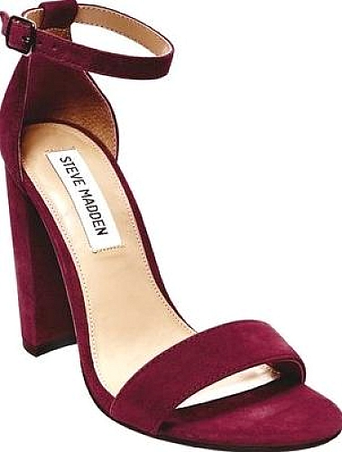 6993bb0c24e Steve Madden Carrson Ankle Strap Sandal in Burgundy Suede | World ...