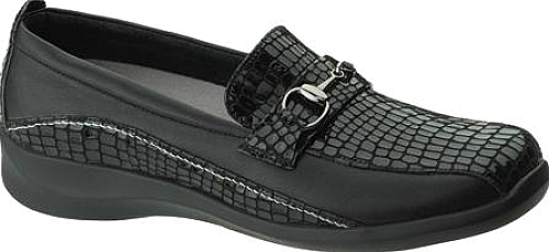 Apex Black Alligator Textured Leather