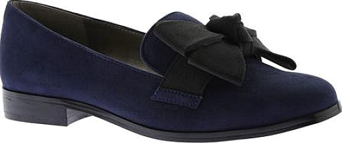 Bandolino Lomb Loafer in Navy Faux Suede