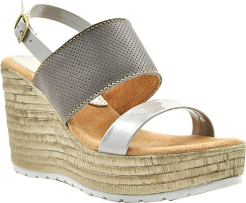 Sbicca Cucamonga Slingback Wedge in Stone Leather