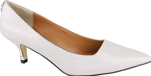 J. Renee Winter White Faux Crinkle Patent Leather