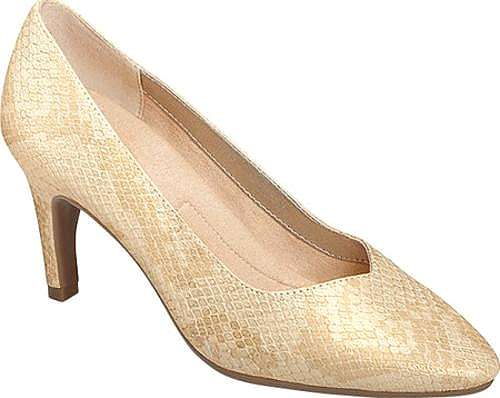 A2 by Aerosoles Gold Snake Faux Leather