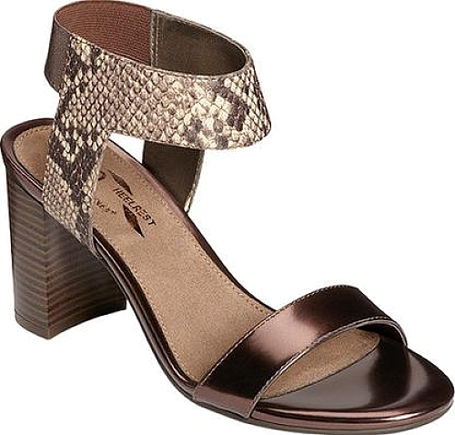 A2 by Aerosoles Bronze Combo Snake Printed Faux Leather