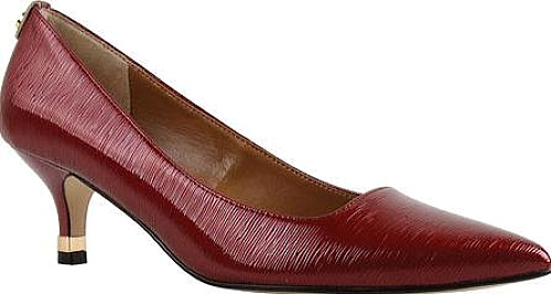 J. Renee Red Faux Crinkle Patent Leather