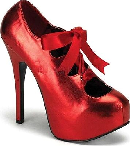 Bordello Red Metallic PU