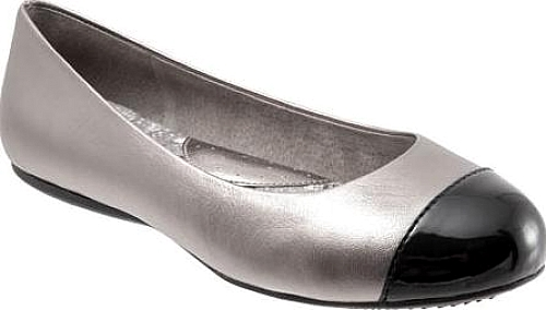 SoftWalk Pewter Soft Metallic Leather