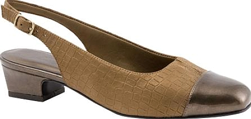 Trotters Bronze Metallic Croco Leather