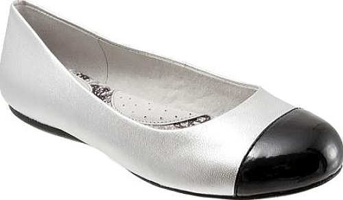SoftWalk Silver Soft Metallic Leather