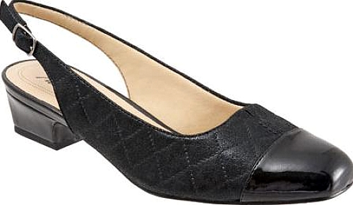 Trotters Black Quilted