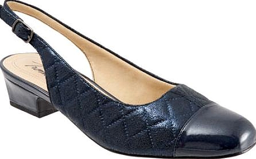 Trotters Navy Quilted