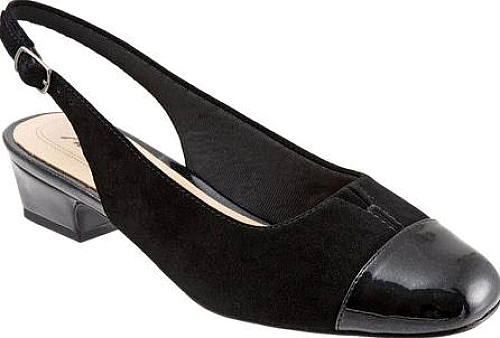 Trotters Black Leather
