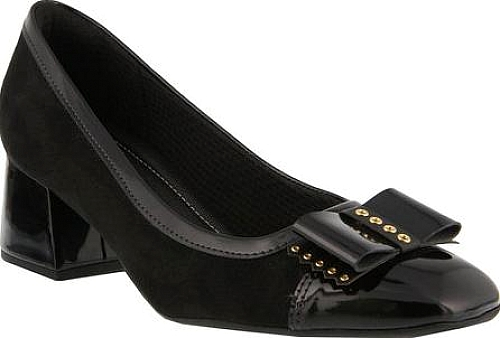 Spring Step Black Synthetic Patent