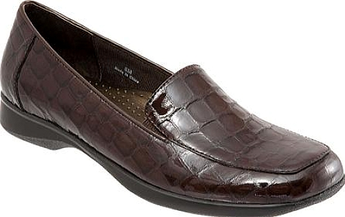 Trotters Mocha Croco Patent Leather