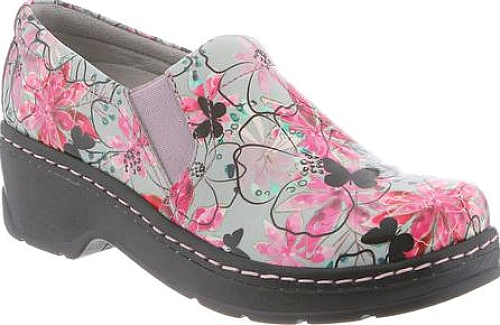 Klogs Graphic Floral Patent Leather