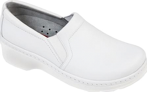Klogs White Smooth Leather