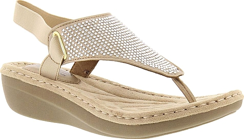 192154a3896 White Mountain Crable Espadrille Wedge Sandal in Tan Synthetic ...