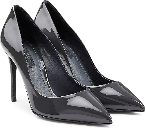 Dolce & Gabbana Patent Leather Pumps | High Heels | Gray