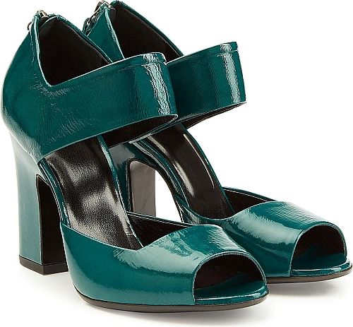 Pierre Hardy Patent Leather Pumps | Sandals | Green