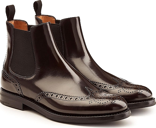Church's Patent Leather Brogue Ankle Boots | Ankle Boots | Brown