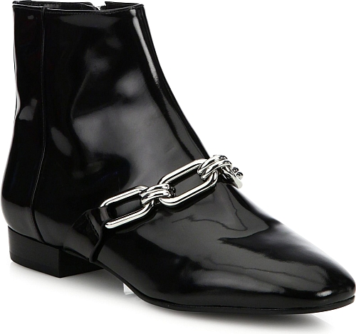 Michael Kors Collection | Lennox Patent Leather Booties | Black