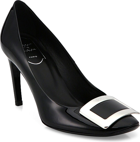 Roger Vivier | Belle de Nuit Patent Leather Pumps | Black