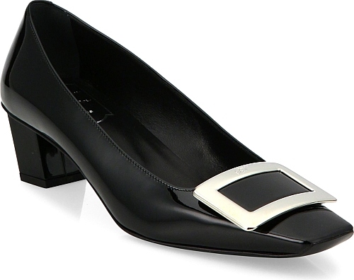 Roger Vivier | Decollete Patent Leather Pumps | Black