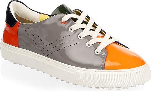 Tory Burch | Colorblocked Leather Sneakers | Multi